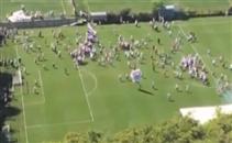 إعتداء جماهير ساو باولو على اللاعبين