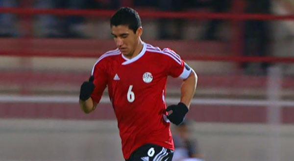 رامي ربيعة لاعب المنتخب المصري للشباب