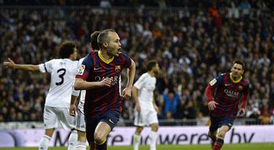 انييستا يغيب عن برشلونة ثلاث أسابيع للإصابة