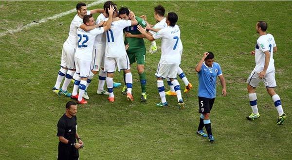 حصريا اهداف مباراه إيطاليا واوروجواي
